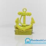 จี้โลหะ สีเหลืองพาสเทล รูปสมอเรือ