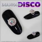 โลหะประดับเพชร ดิสโก้ หมุนๆ Diamond Disco For Nail Art
