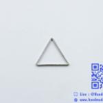 จี้โลหะ สไตล์มินิมอล (minimal style) รูปสามเหลี่ยม [เล็ก] สีนิเกิล