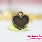 จี้ สีทองรมดำ รูปหัวใจ