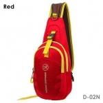 กระเป๋าสะพายข้าง-คาดหน้าอก D02N สีแดง