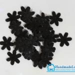 ดอกไม้ตกแต่งสีดำ ขนาด 15 มม. [แพ็ค 15 ชิ้น]