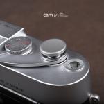 Soft Shutter Release รุ่น 16 mm ปุ่มใหญ่ เว้าลง สีเทา กดง่ายสะดวก สำหรับ Fuji XT2 XE2 X20 X100 XE1 XT20 XT10 Leica ฯลฯ