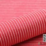 ผ้าสักหลาด พิมพ์ลายเส้น สีแดง