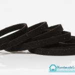เชือกหนังชามุด สีดำ ขนาด 8 mm.