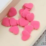 หัวใจตกแต่ง สีชมพู ขนาด 2.2 CM (แพ็ค 15 ชิ้น)