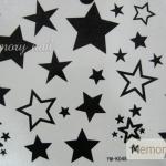 YM-K048 สติ๊กเกอร์สักแฟชั่น sticker tattoo ลายดาว 15.5x10.8 cm