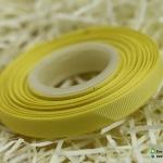 ริบบิ้นผ้า กรอสเกรน สีเหลือง (04)