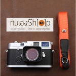 สายคล้องกล้อง cam-in สีพื้นเส้นเล็ก สีส้ม แบบห่วง 25 mm