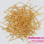 เฮดพิน สีทอง ขนาด 3 cm. [แพ็ค 100 ชิ้น]