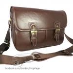 Smart Dark Brown Leather Bag (ขนาดใหญ่) (Pre)