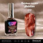 น้ำยาหินอ่อน Rainbow marble Solution รหัส 02 สีน้ำตาล