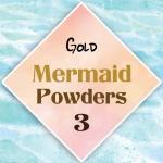 ผงเกร็ดนางเงือก Mermaid Powder #3 Gold สีเหลือบทอง