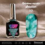 น้ำยาหินอ่อน Rainbow marble Solution รหัส 10 สีฟ้าอมเขียว