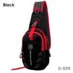 กระเป๋าสะพายข้าง-คาดหน้าอก D02N สีดำ