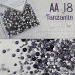 เพชรชวาAA สีม่วง Tanzanite รหัส AA-18 คละขนาด ss3 ถึง ss30 ปริมาณประมาณ 1300-1500เม็ด