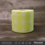 กระดาษกึ่งผ้า สีเหลือง ใช้เช็ดพู่กัน เช็ดอุปกรณ์ทำเล็บ