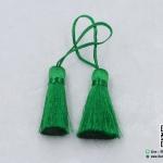 พู่ผ้า สีเขียว ขนาด 10*40 มม.
