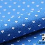 ผ้าสักหลาด พิมพ์ลายหัวใจ สีน้ำเงิน