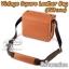 กระเป๋ากล้องเล็ก Mirrorless - Vintage Square Leather Bag มีโลโก้ Leica thumbnail 1