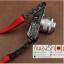 สายกล้องผ้าปรับสายได้ รุ่นปลายหนังแท้ สีแดง thumbnail 7