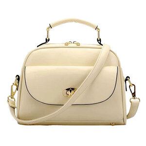 ***พร้อมส่ง*** กระเป๋าแฟชั่นสตรี รหัส BB-9002 (ฺB2-129) สีขาวครีม สไตล์เกาหลี สำหรับ สุภาพสตรีทันสมัย ราคาไม่แพง
