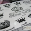 YM-K010 สติ๊กเกอร์สักแฟชั่น sticker tattoo ลายมงกุฎ 15.5x10.8 cm thumbnail 9
