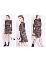 ZARA : FLORAL DRESS เดรสลายดอกสีสวย ช่วงบนแต่งซีทรู Size : L อก 38'' เอว 32'' สะโพก 44'' ยาว 34''