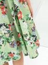 ZARA : FLORAL PRINT FLARED SET ชุดเสื้อ+กระโปรง Size : S อก 34'' ยาว 22'' เอว 27'' สะโพก Free ยาว 26''