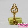 จี้,ตัวห้อยซิป สีทอง รูปกุญแจ
