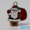 จี้อัลลอยฺดฺ์ เคลือบสี รูปซานต้าครอส