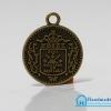 จี้โลหะ สีทองรมดำ รูปเหรียญสเปน