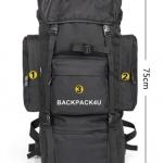 เป้ Backpack 70 ลิตร สีดำ