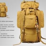 เป้ Backpack 70 ลิตร สีทราย