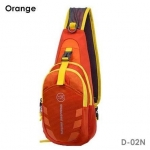 กระเป๋าสะพายข้าง-คาดหน้าอก D02N สีส้ม