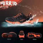 รองเท้า Merto สีดำ-ส้ม